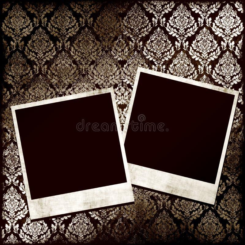Fotos en el papel pintado stock de ilustración