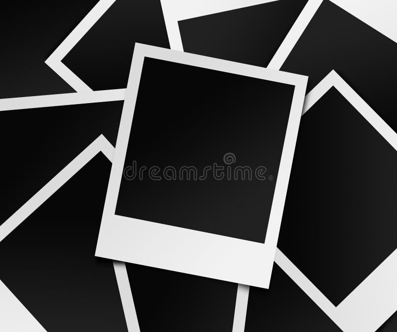 Fotos imediatas em branco ilustração royalty free