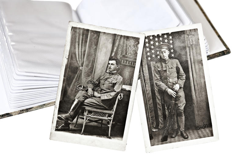 Fotos militares viejas imagen de archivo libre de regalías