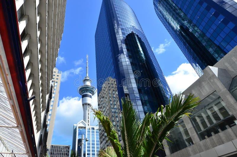 Fotos NZ do curso - arquitectura da cidade de Auckland imagens de stock