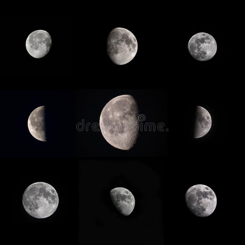 Fotos reales de la luna imagen de archivo