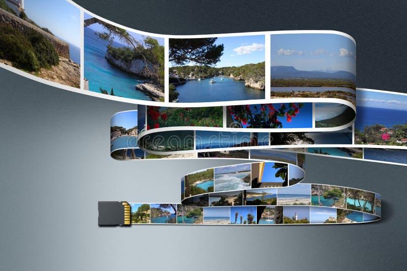 Fotos und Sd-Karte stock abbildung