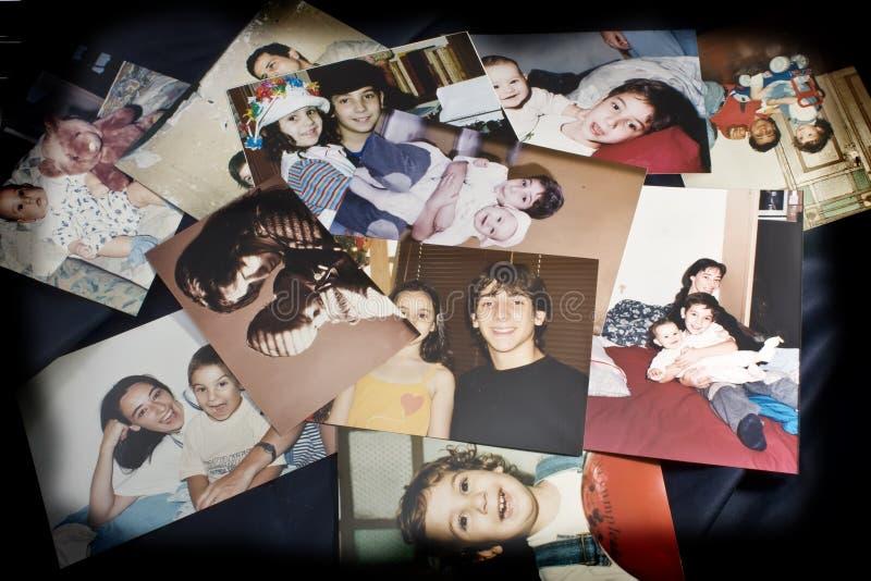 Fotos unserer Kinder stockbild