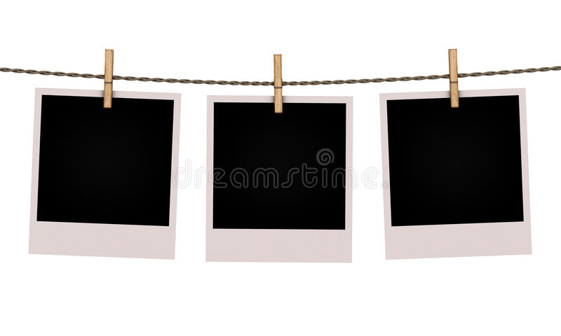 Fotos velhas isoladas no fundo branco ilustração stock
