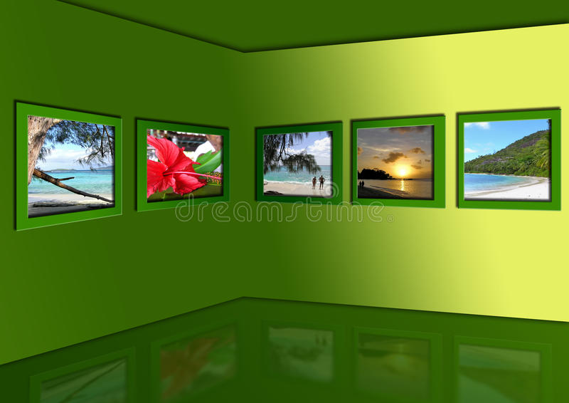 Fotos von exotischen Tropen stock abbildung
