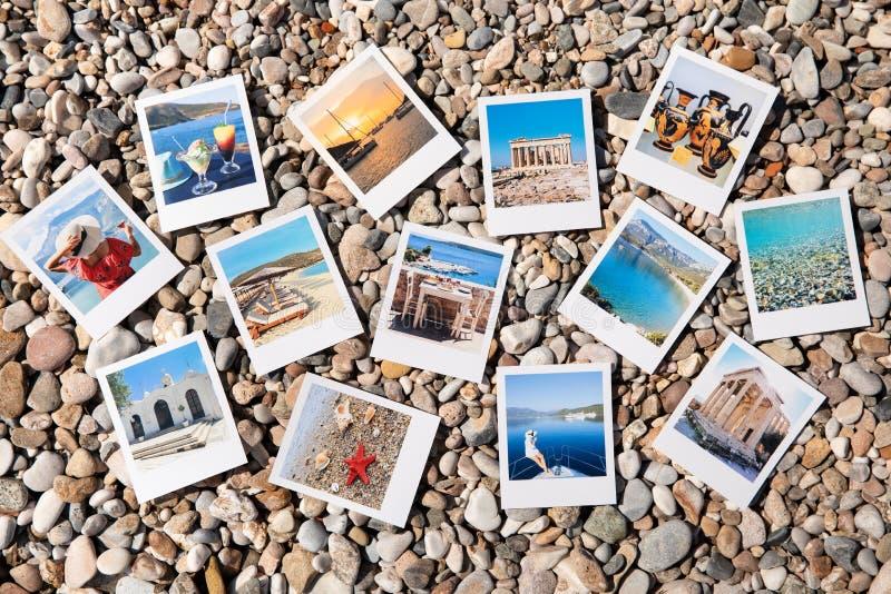 Fotos von sch?nen Momenten von gl?cklichen Sommerferien in Griechenland stockfoto