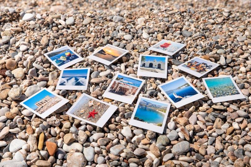 Fotos von sch?nen Momenten von gl?cklichen Sommerferien in Griechenland stockbild