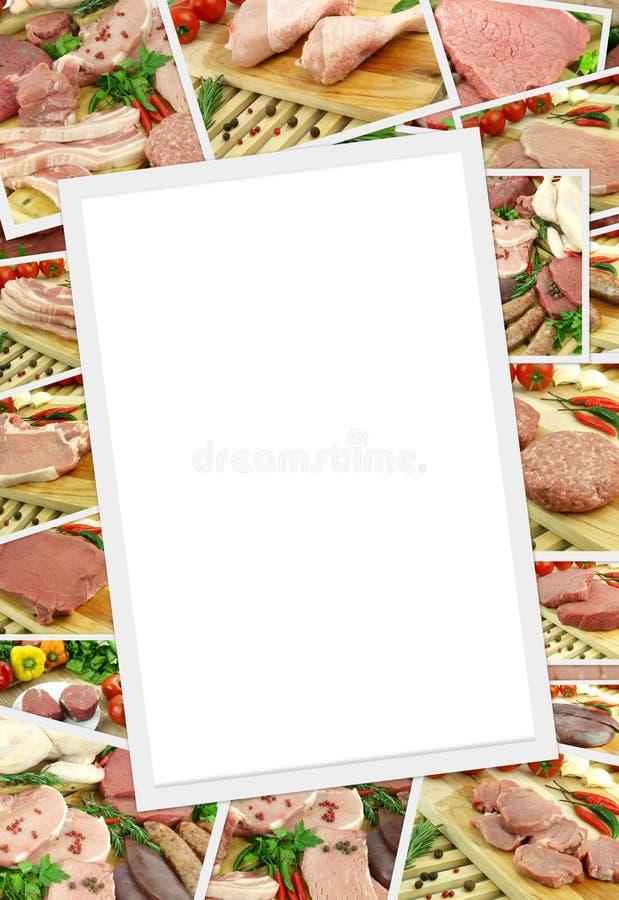 Fotosammlung rohes Fleisch stockbilder