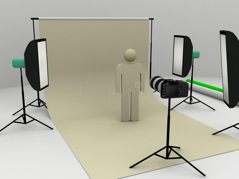 fotoskyttestudio vektor illustrationer