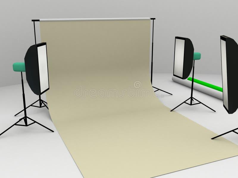 fotostudio vektor illustrationer