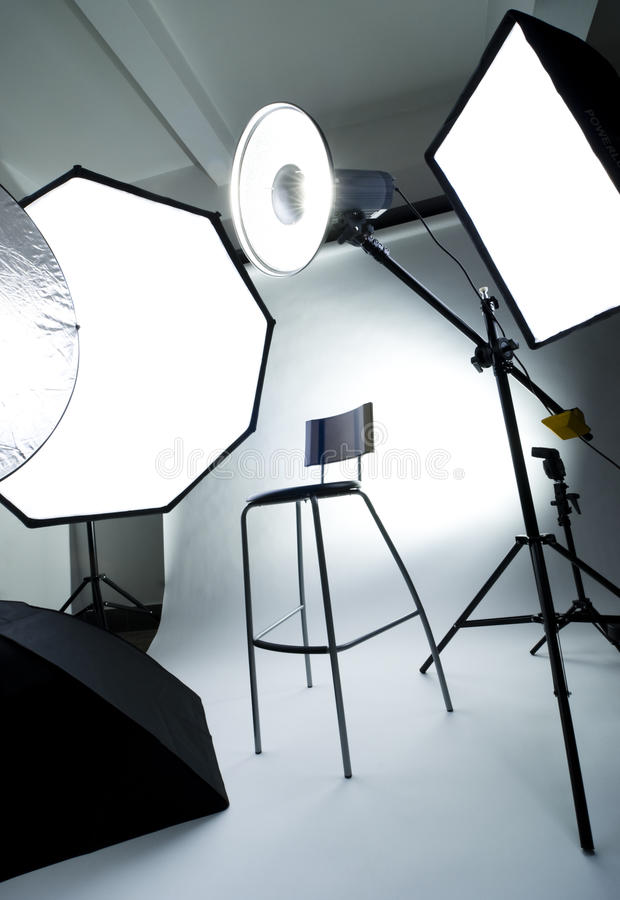 Fotostudio stockfoto