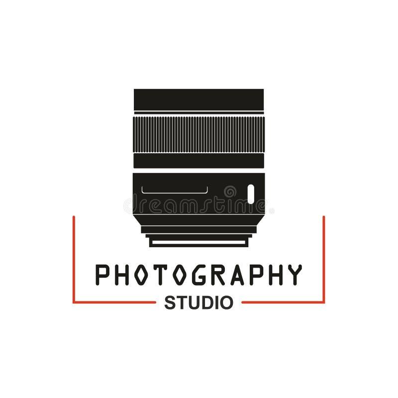 Fotostudio-Kameraobjektiv-Vektorikone lizenzfreie abbildung