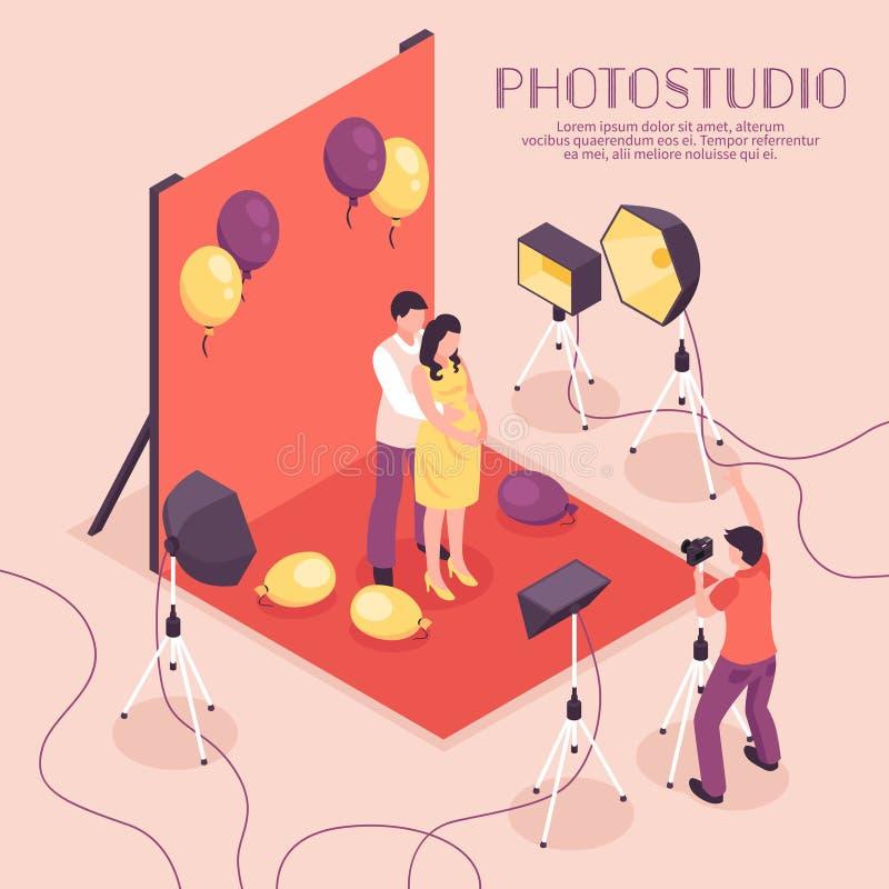Fotostudioillustration royaltyfri illustrationer