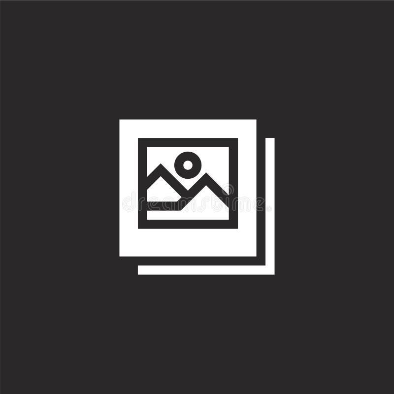 Fotosymbol Fylld fotosymbol för websitedesignen och mobilen, apputveckling fotosymbol från den fyllda loppsamlingen som isoleras  vektor illustrationer