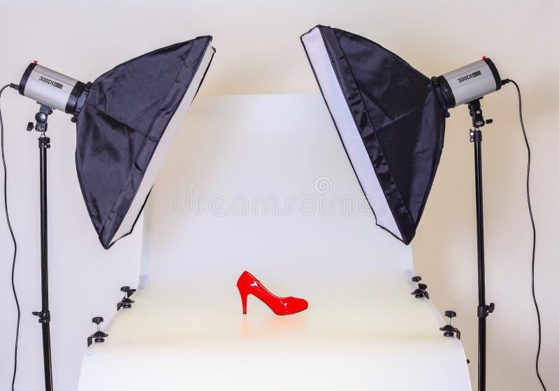 Fototabelle für Produktfotografie lizenzfreies stockbild