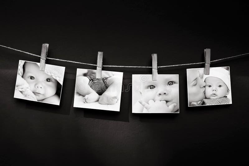 Fotoverhaal van baby en moeder stock fotografie