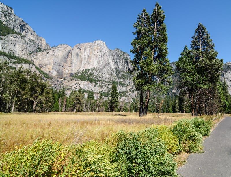FotoYosemite Nationalpark an einem schönen sonnigen Tag lizenzfreies stockbild