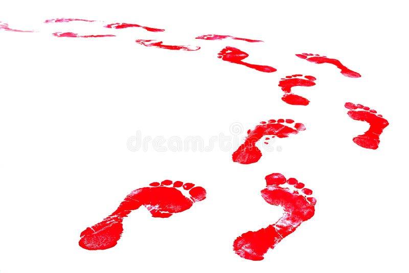 fotspår royaltyfri illustrationer