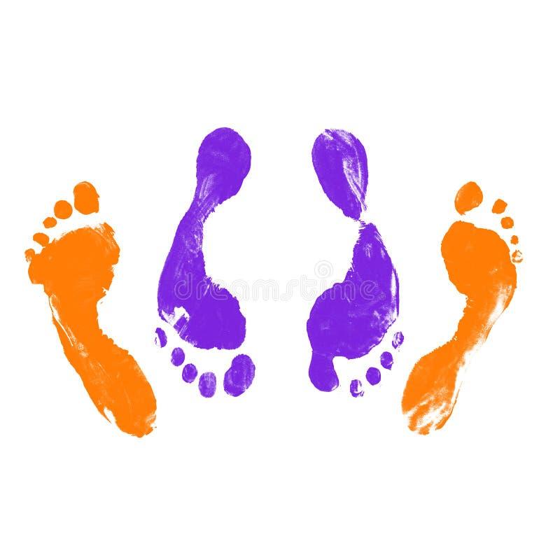 fotspår stock illustrationer