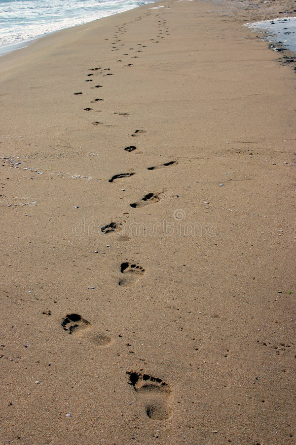 fotspårsands arkivbilder