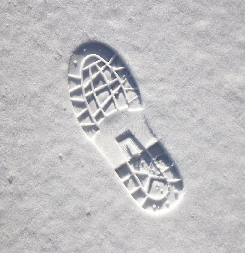 fotspårsnow royaltyfri bild