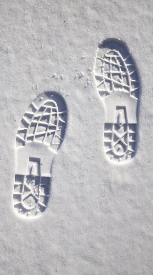 fotspårsnow arkivfoto