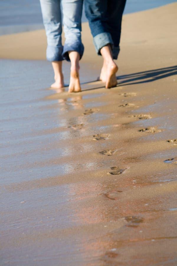 fotspårvänner royaltyfri foto