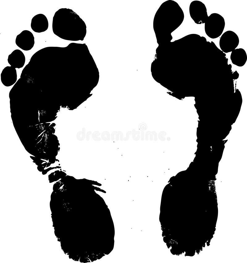 fotspårvektor royaltyfri illustrationer