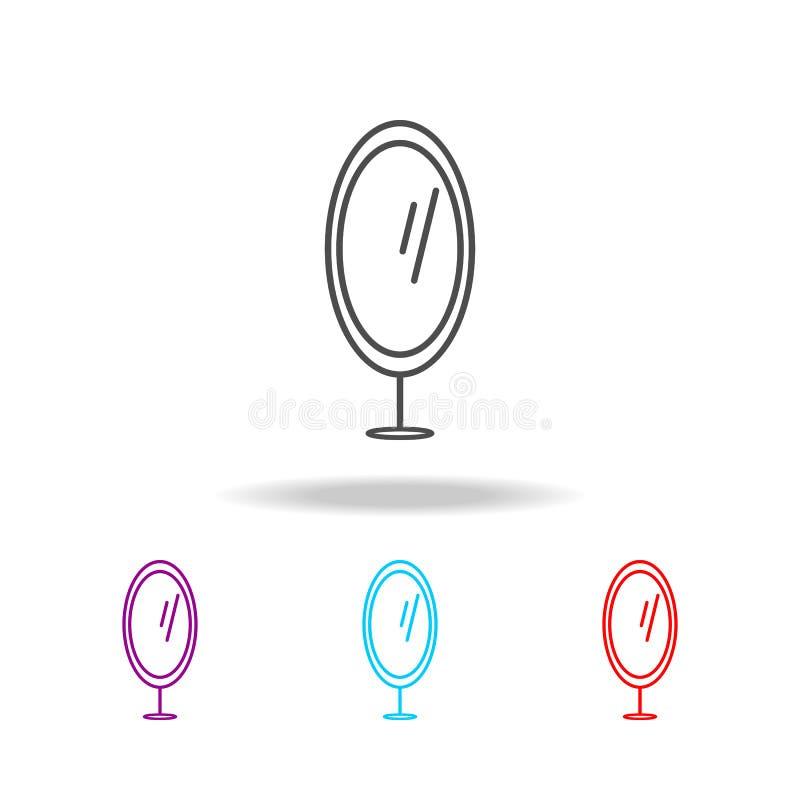 fotspegelsymbol Beståndsdelar av möblemang i mång- kulöra symboler Högvärdig kvalitets- symbol för grafisk design Enkel symbol fö vektor illustrationer
