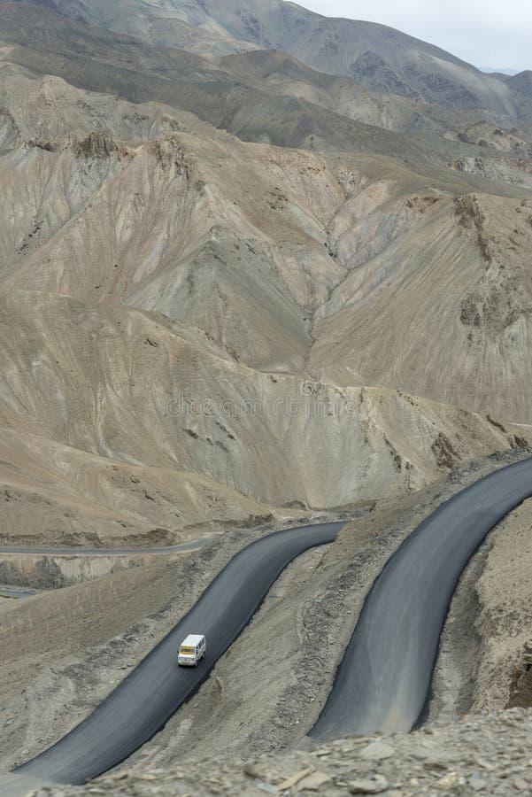 Fotula Pass roads, Ladakh, Jammu and Kashmir, India royalty free stock images