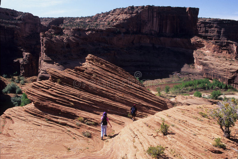 fotvandra för arizona kanjoner royaltyfria foton