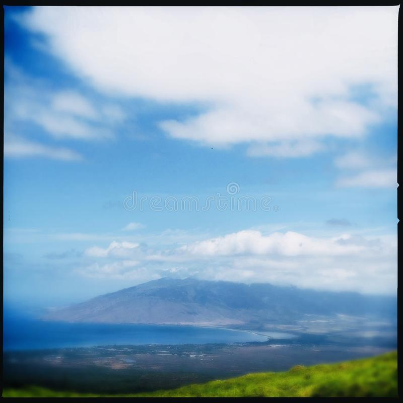 Fotvandra i Kula på Maui royaltyfri bild