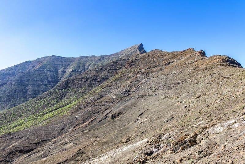 Fotvandra på den Jandia halvön, Fuerteventura, kanariefågelöar, Spanien arkivfoton
