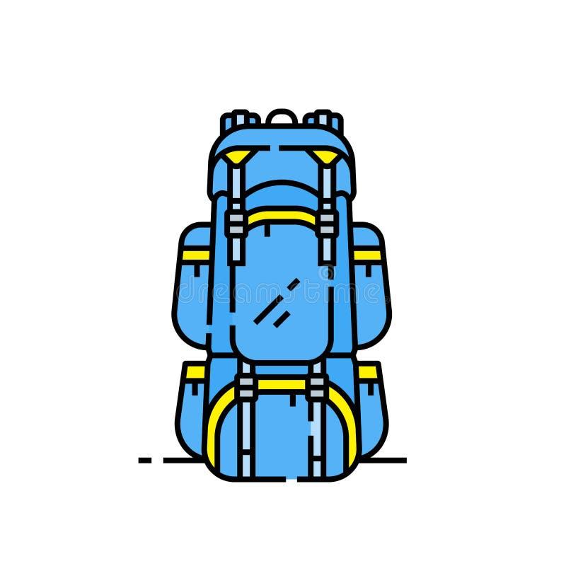 Fotvandra påselinjen symbol vektor illustrationer