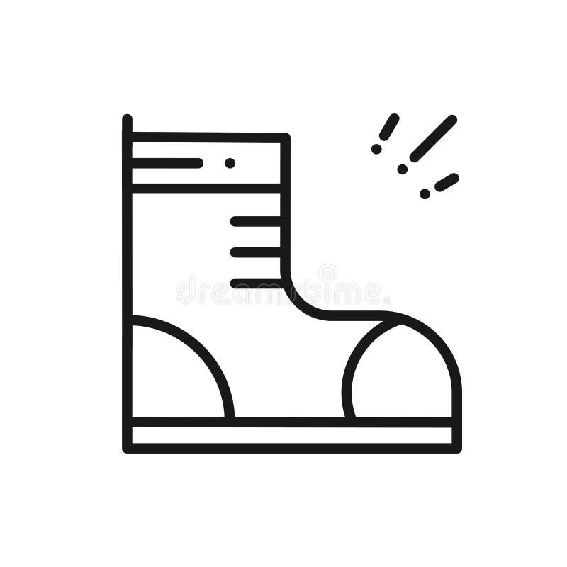 Fotvandra skolinjen symbol Trekking kängatecken och symbol vektor illustrationer