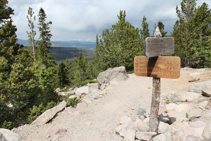 Fotvandra slingor i Colorado royaltyfri foto