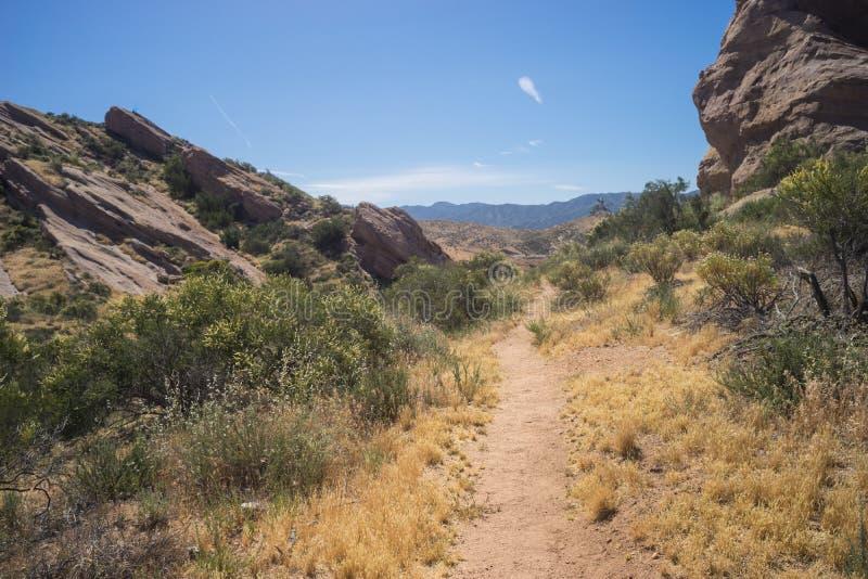fotvandra trail för öken royaltyfri fotografi