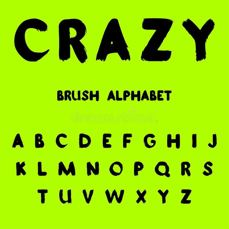 fou Alphabet peint par brosse illustration libre de droits