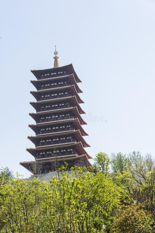 Fouding (Buddha top) pagoda stock image