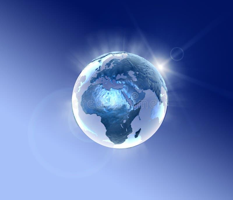 Foudre bleue 2 de planète illustration stock