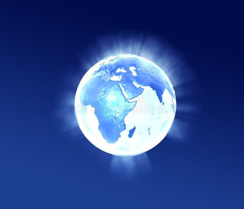 Foudre bleue de planète illustration libre de droits