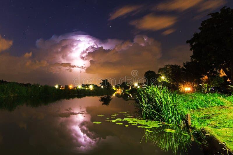 Foudre de rivière photo libre de droits