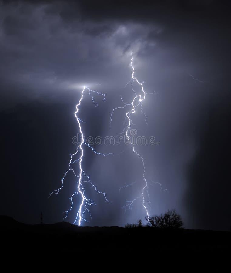 Foudre de Tucson photographie stock libre de droits