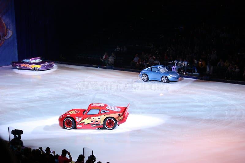 Foudre McQueen à Disney sur la glace photographie stock libre de droits