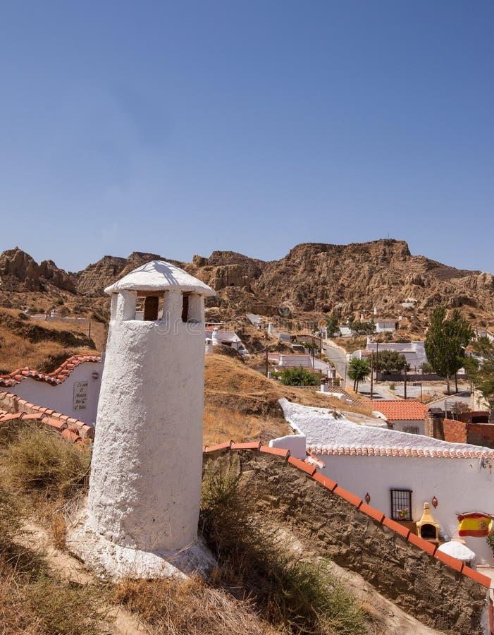 Foudroie des maisons de Guadix photo libre de droits