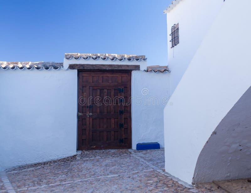 Foudroyez la maison chez Campo de Criptana La Mancha, Espagne photo libre de droits