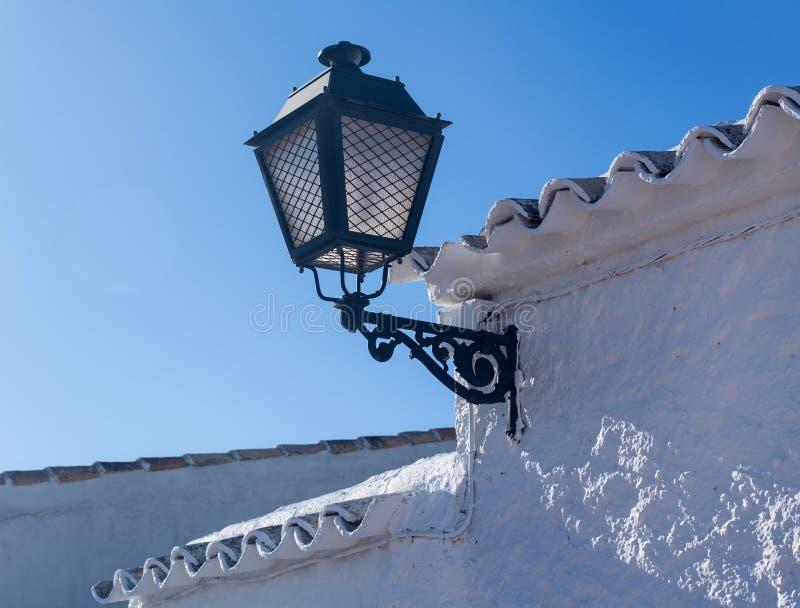 Foudroyez la maison chez Campo de Criptana La Mancha, Espagne photographie stock libre de droits