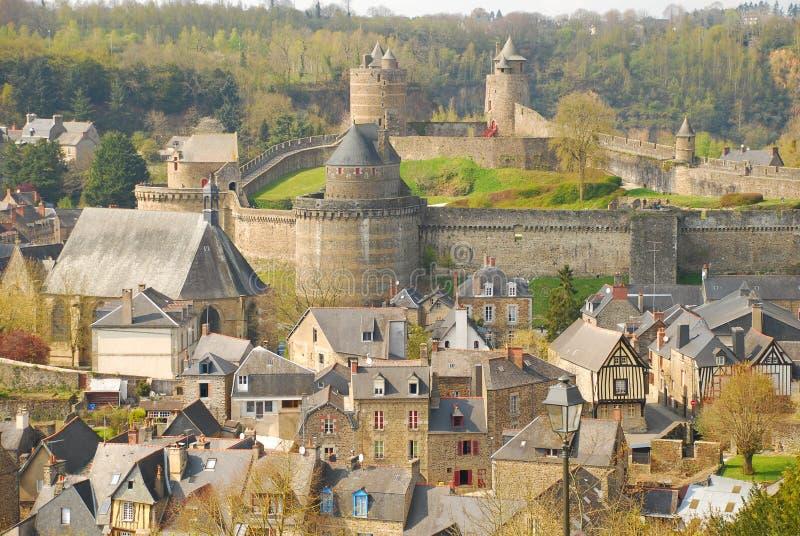 Fougères, Bretagne, Frankrijk stock afbeeldingen