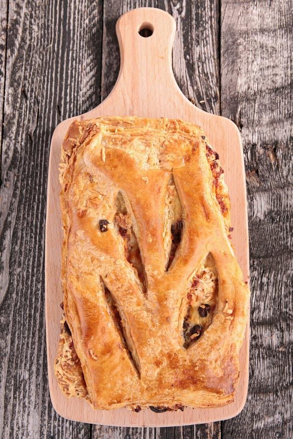 Fougasse bröd royaltyfria bilder