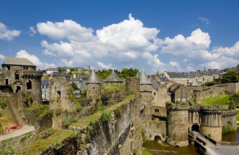Fougeres, Brittany, France royalty free stock images